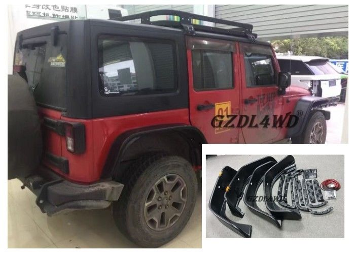 Jeep Wrangler Eyebrow 4 Doors , JK Crusher Wheel Arch Flares With Lights pemasok