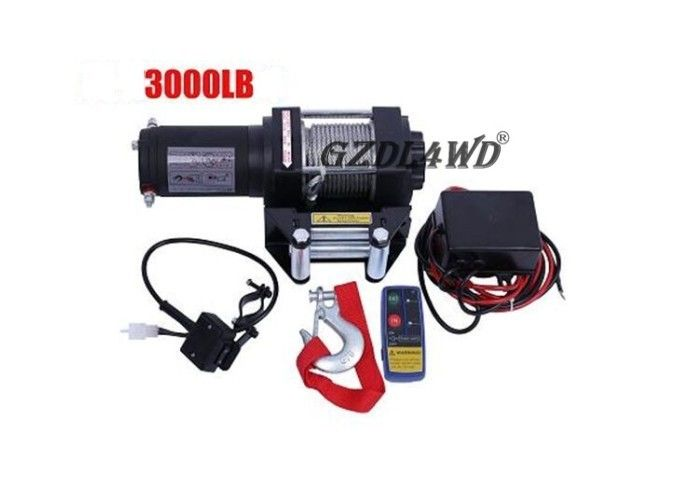 Mini 3000lbs 24V 12V Heavy Duty Electric Winch Wire Rope ATV with Automatic Braking Action