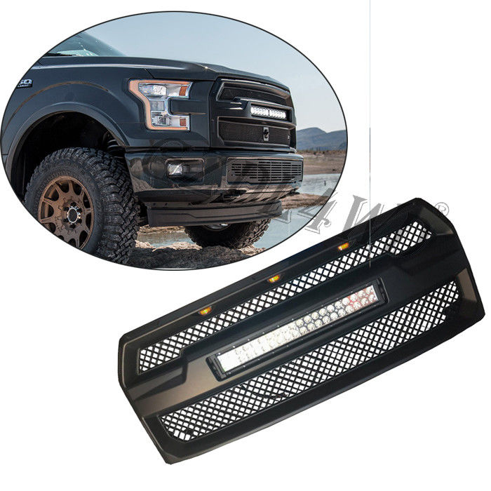 Raptor Style Auto Front Grill Mesh dengan 120w LED Bar Untuk Ford F150 2015-2017