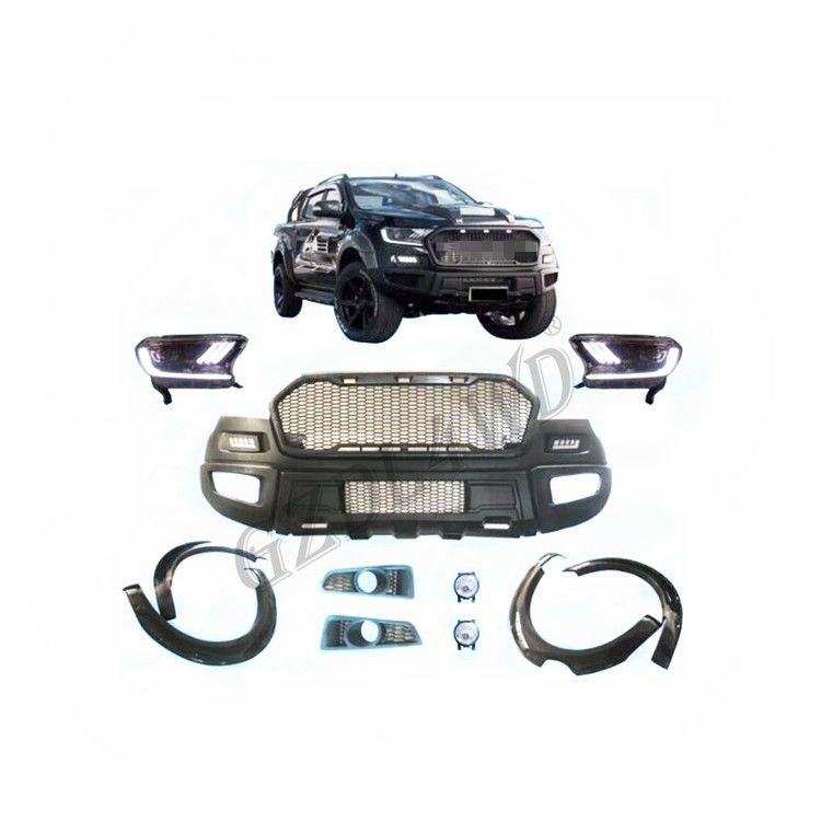 Kit Tubuh Ford Ranger Wildtrak Raptor Facelift Dengan Lampu LED