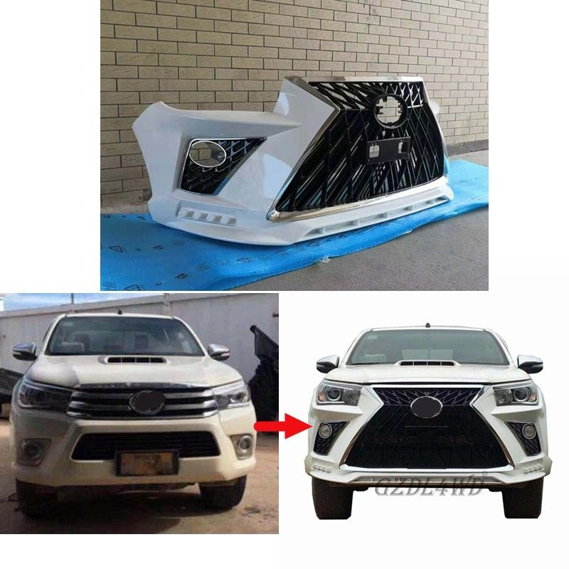 ABS 4x4 Body Kit / Modifikasi Otomatis Hilux Revo Rocco Upgrade Lexus LX570 Facelift Body Kit