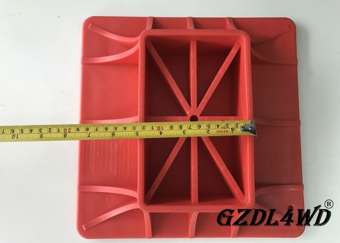 ABS Jeep Off Road Parts ,  Red Hi Lift Jack Base Plate Plastic Material